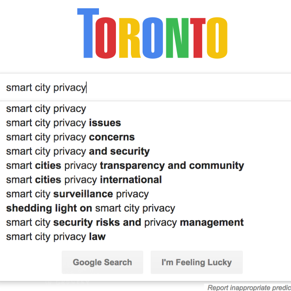 toronto search for smart city privacy